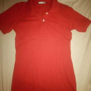 -So Basic- Red Polo Shirt For Women