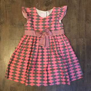 Pink and Gray dress