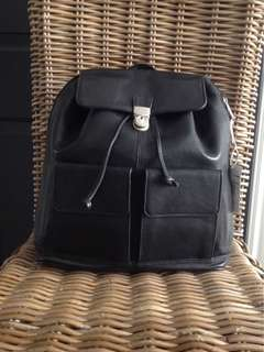 NEW All Leather Backpack