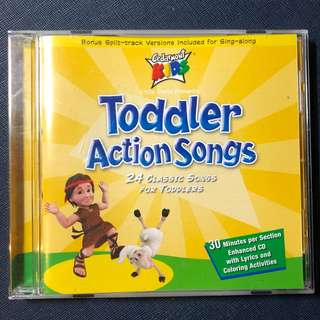 Toddler Action Songs Music CD