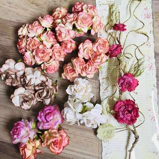 Paper Roses and Prima flowers