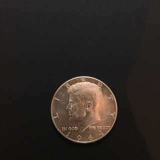 1964 Kennedy Silver Half Dollar (US$0.50)