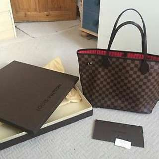 Louis Vuitton Damier Ebene Canvas Neverfull MM Tote