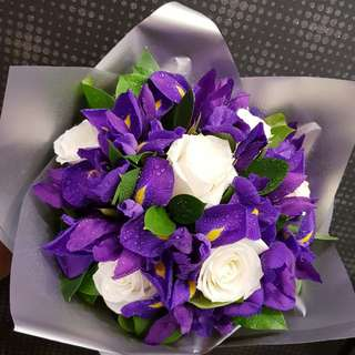 Iris & Rose Bouquet