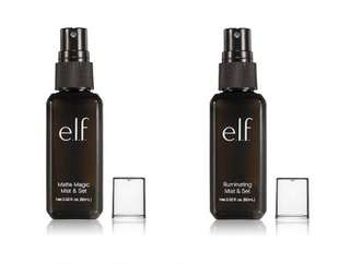 💯% authentic E.L.F setting spray , matte and clear