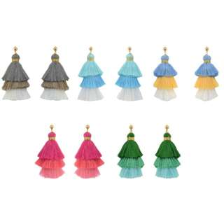 Colours Tassels Earrings
