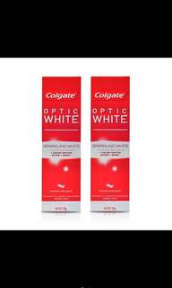 1+2 Colgate Optic White Sparkling White Toothpaste 100g