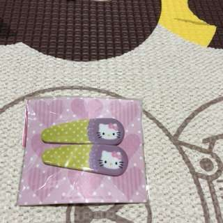 Hello kitty hairclips korea