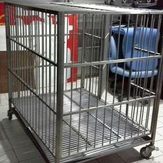 白鐵狗籠120寬,適用大型動物