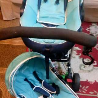 Stroller with baby carseat