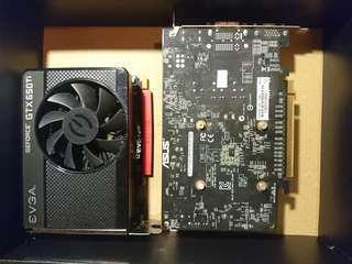 兩張graphic card gtx 650ti 750