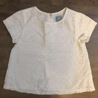 White Baby Gap eyelet fabric top (for 18-24 months)