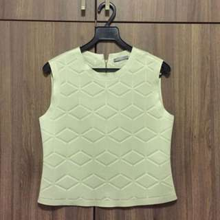 Zara Sleeveless Neoprene Top