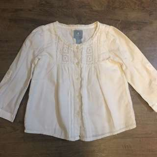 White long sleeved Baby Gap top (for 18-24 months)