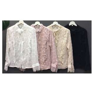 *PO* Lacey Long Sleeves Blouse