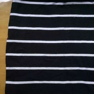 cotton on striped bodycon skirt