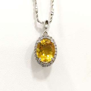Genuine High grade Citrine Yellow Crystal Pendant