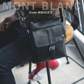 Sling Bag MONTBLANC 003-2#p  Bag Size : 23x4x26cm Quality : Semprem Material Leather Ready 2 colours : - Black - Coffee Bisa muat iPad dll Berat : 0,6 kg  H 185rb