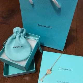 """Tiffany and Co. heart key necklace (18"""")"""