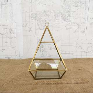 RENT: Gold Geometric Terrarium
