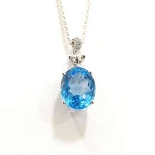 Genuine High Grade Topaz pendant