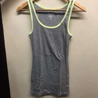 Old navy gray tank top with neon lining