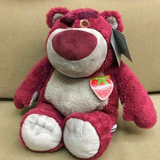 Disney Authentic Toy Story 3: Lotso Bear Plush W/ Strawberry Scent Latest Edition 2017/2018 (In Stock)