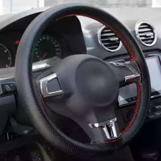 Genuine Leather Steering wrap