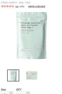Frank Body Coconut Scrub