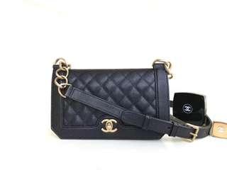 Chanel 2018 牛皮金扣 mini bag