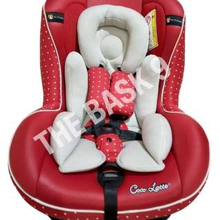 Baby car seat, Coco Latte CL806, Red, Polka dot