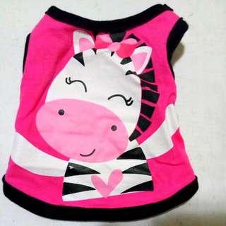 Hot Pink Zebra Dog Or Cat Sando SS Size