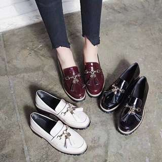 (35~43) Spring British wind ins small leather shoes Harajuku flow Suleibu shoes foreign trade