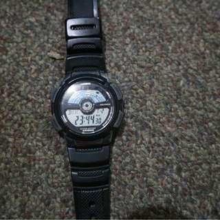 Casio Illuminator Men's Black Rubber Strap Watch AE-1100W