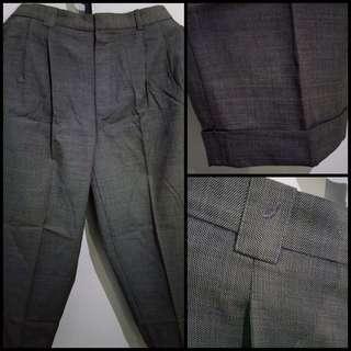 Celana Panjang Pria ASJ Tailor Warna Abu-Abu Ukuran 36