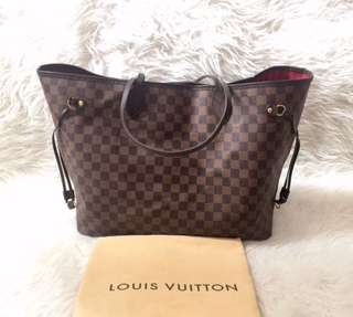 LV Neverfull GM Damier Ebene 2008 | with Bag and Dustbag