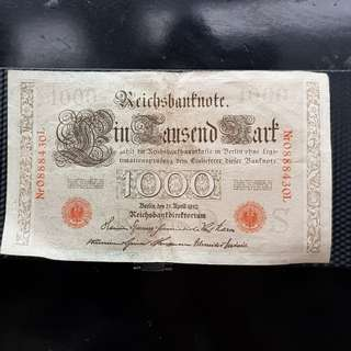 Very old note 1910 Berlin Germany rare