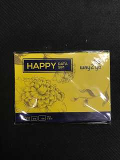 Happy Data SIM WAY2GO 越南15天 4G無限上網 3GB之後3G無限