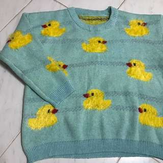 Duck patterned sweater