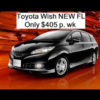 Toyota wish cheap rental.
