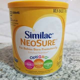 Similac Neosure Formula milk for babies born prematurely