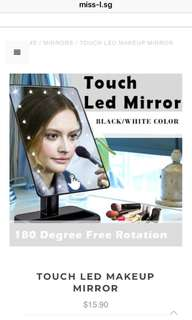 🍄 TOUCH LED MAKEUP MIRROR