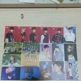 SHINee, WannaOne, VIXX, SF9等明星 Yes Card