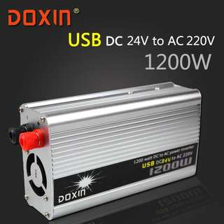 USB 1200W DC 24V to AC 220V Car styling Charging Power INVERTER 1200W Universal DOXIN ST-N025