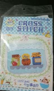 DIY coin purse, cross stitch