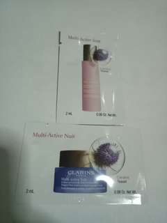 Brand New Clarins Multi Active Day Emulsion& Night Cream With Cardere Teasel