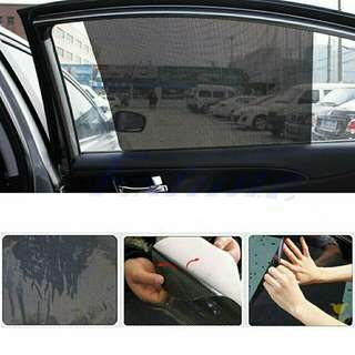 2Pcs Car Window Side Sun Shade Cover Block Static Cling Visor
