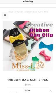 🍄 RIBBON BAG CLIP 5 PCS