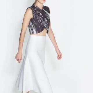 INSTOCK AUTHENTIC ZARA Marble Print Crop Vest