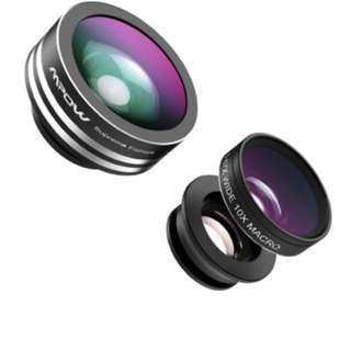 Mpow 3 in 1 Clip-On 180 Degree Supreme Fisheye + 0.67X Wide Angle+ 10X Macro Lens For iPhone 6 / 6 Plus, iPhone 5 5S 4 4S Samsung HTC (No Dark Circle by the Fisheye lens)